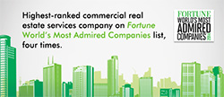 CBRE is a premier full-service real estate services company